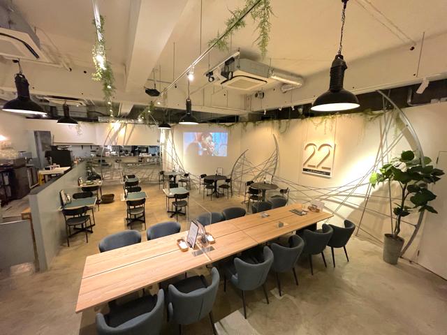 カフェ&ウェディング22の店内