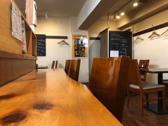 三鷹の手打ち蕎麦 太古福(たこふく)の店内