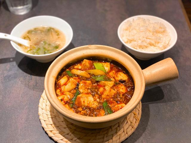 「中國菜 四川 雲蓉(ユンロン)」の麻婆豆腐ランチ