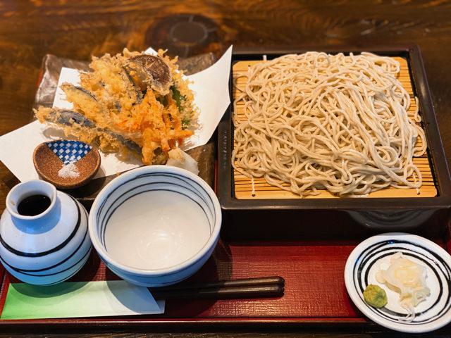 武蔵境増田屋 蕎麦処ささいの野菜天せいろ