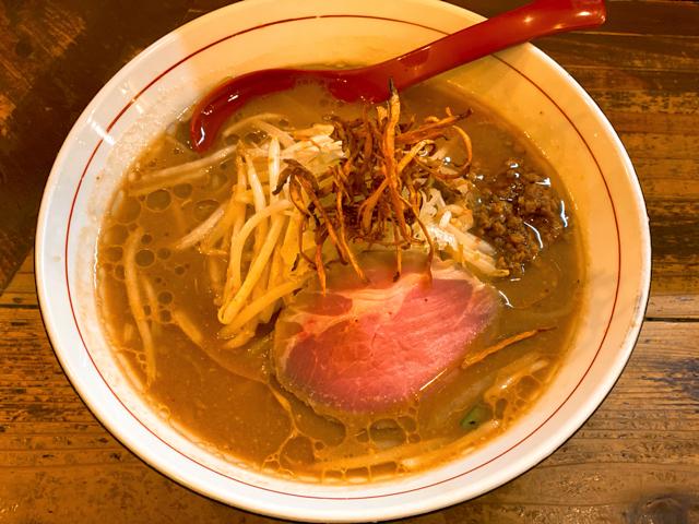 東京味噌らーめん 鶉(うずら)の味噌ラーメン