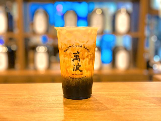 萬波(ワンポ)吉祥寺店の黒糖タピオカラテ
