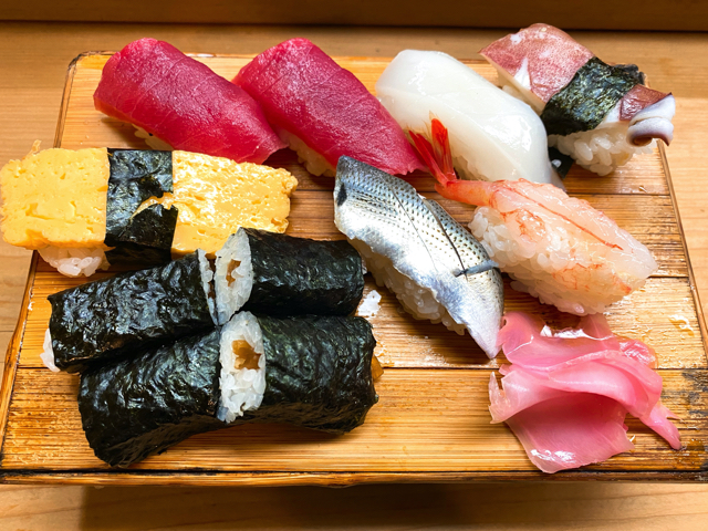 福寿司のにぎり寿司