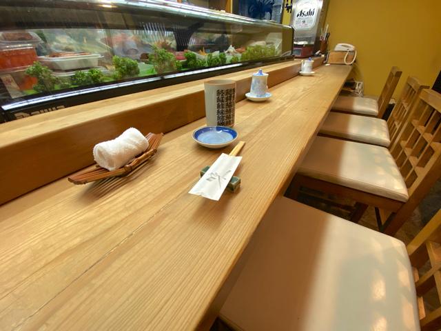 福寿司の店内