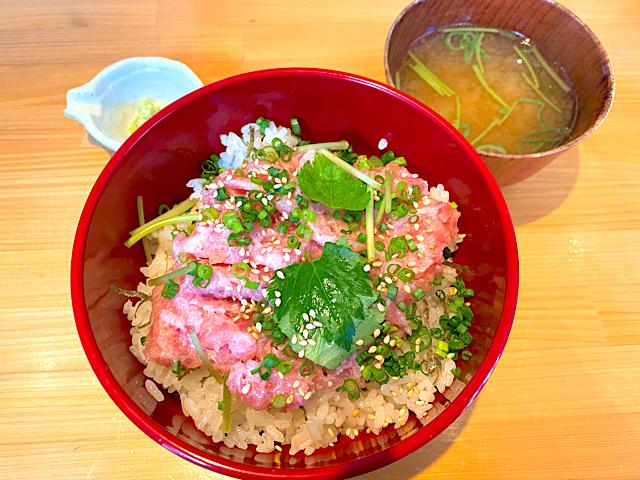 福郎(ふくろう)の本マグロ ネギトロ丼ランチ