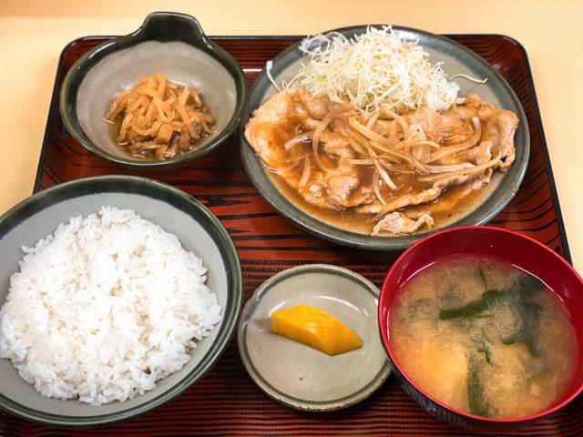 扇屋食堂(おうぎやしょくどう)の生姜焼き定食