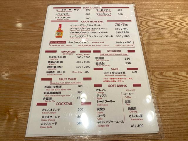クラフトビアマーケット 吉祥寺ペニーレーン店のドリンクメニュー