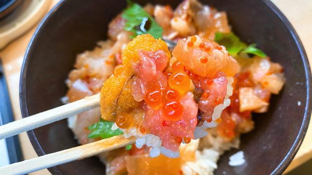 無添くら寿司 井草八幡宮店の海鮮丼ランチ