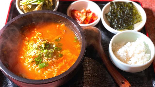 オンドルパンの韓国ラーメン