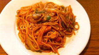 オクワ酒屋のスパゲティナポリタン