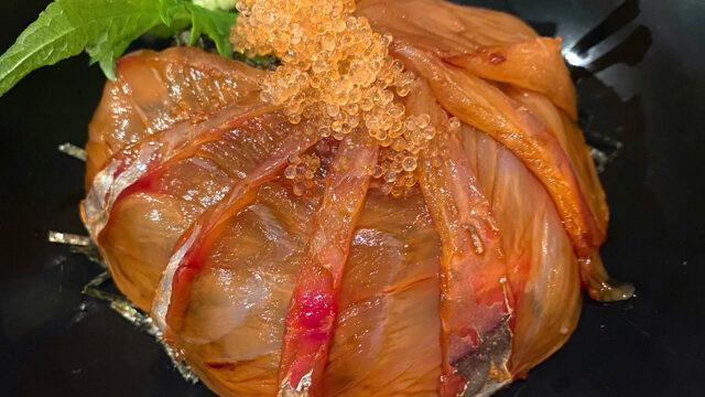 吉祥寺の魚秀(うおひで)の漬丼ランチ