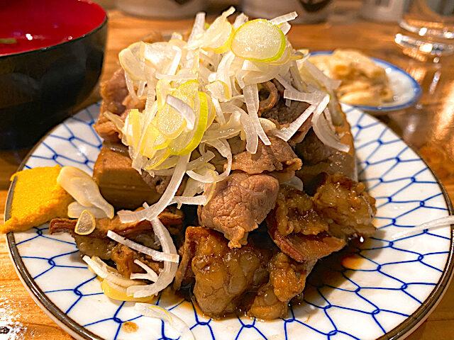 吉祥寺の大衆酒場 長次郎で食べた肉豆腐定食2