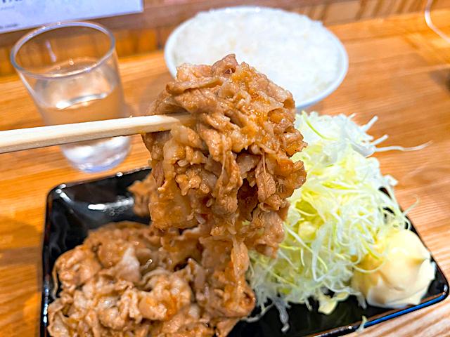 三鷹「ゆたか」の生姜焼き2