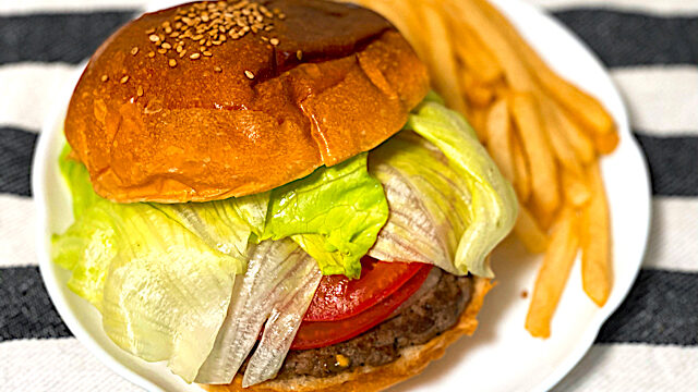 吉祥寺Ba-LuLu(バルル)JUSTmeet(ジャストミート)のクラシックハンバーガー