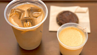 井の頭公園カフェのカフェラテやプリン