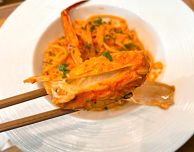 吉祥寺「蟹が得意な洋麺屋」のパスタ2