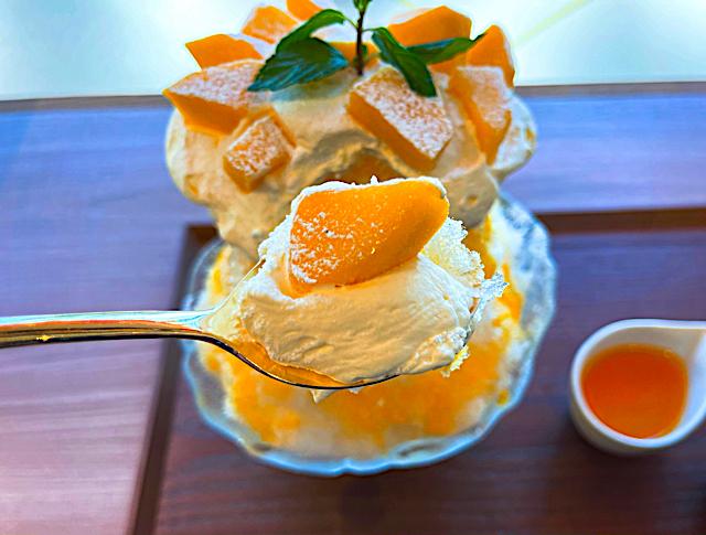 ベーカリーカフェクラウン 三鷹店のかき氷3