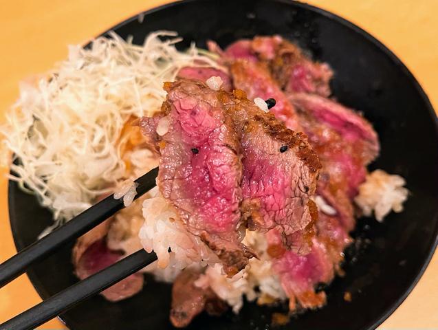 the肉丼の店 吉祥寺店の極上イチボステーキ丼2