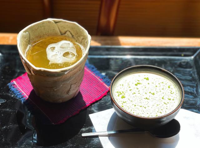 三鷹の日本茶専門店「さらさら」の抹茶ゼリー