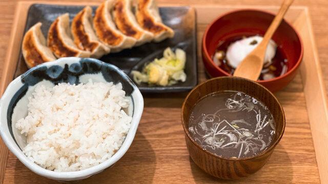 肉汁餃子のダンダダン 三鷹店の餃子ランチ